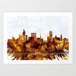 Brno Czech Republic Skyline Art Print