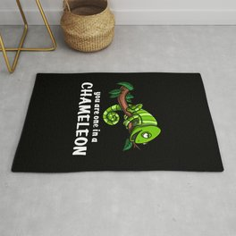 You Are One In A Chameleon Lizard Rug