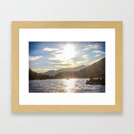 Labor Day on Big Bear Lake Framed Art Print