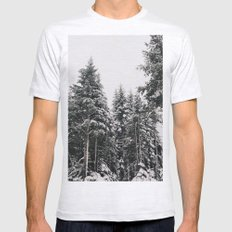 Snowy Paradise Mens Fitted Tee SMALL Ash Grey