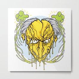 Melting head of Monty Burns Metal Print
