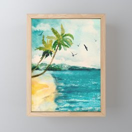 Palm Trees 1 Framed Mini Art Print