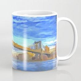 Manhattan Bridge Pop Art Coffee Mug