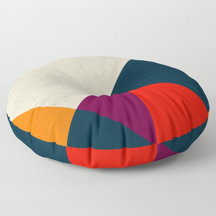 Geometric abstract Floor Pillow