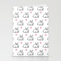 bunnies Stationery Cards featuring BUNNIES by pattern society