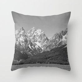 Ansel Adams - Grass Valley and Grand Tetons Throw Pillow