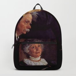 Edvard Grieg (1843 – 1907) accompanying his wife by Peder Severin Kroyer (1851-1909) Backpack