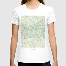 Lille Map Blue Vintage T-shirt