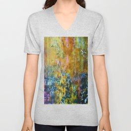 Abstract Seagulls Unisex V-Neck