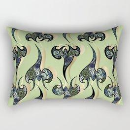 Oriental Tattoos on light green Rectangular Pillow