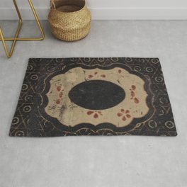 Vintage Japanese lacquer box pattern Rug