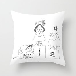 One, Two, Last Throw Pillow