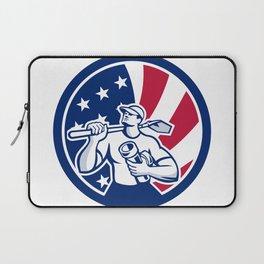 American Drainlayer USA Flag Icon Laptop Sleeve