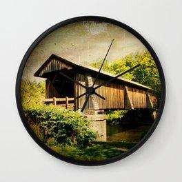 Livingston Manor Covered Bridge Wall Clock