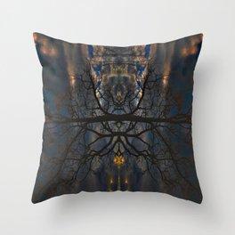 Treeflection II Throw Pillow