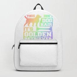 Dog Lover This Isn't Dog Hair It is Golden Retriever Glitter Pet Lover Backpack
