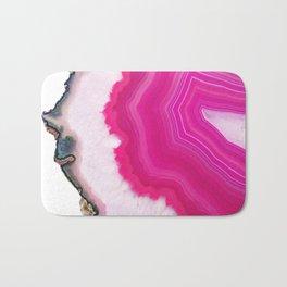 Pink Agate Slice Bath Mat