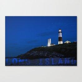Long Island - Montauk Point Light - New York  Canvas Print