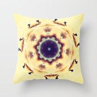 birdy Throw Pillows featuring Birdy by Sosarora