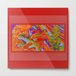 Man, Wilderness, and Psyche Metal Print