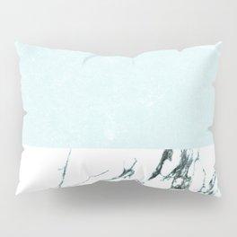 Marble & concrete - soft aqua Pillow Sham