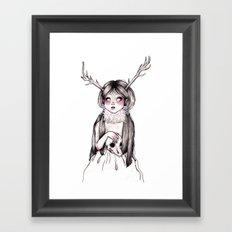 Princess Cervidae (With Color) Framed Art Print