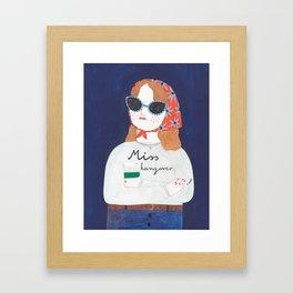 Miss Hangover Framed Art Print
