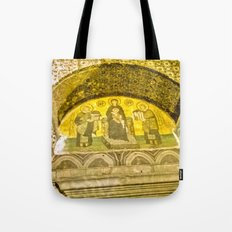Painting the sacred wall. Tote Bag