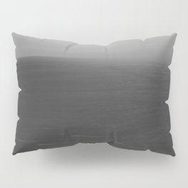 Cliff on the Ocean (Black and White) Pillow Sham