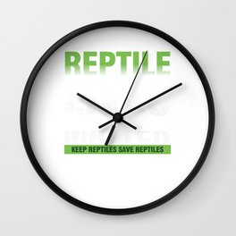 Reptile Lives Matter Pets Reptilia Herpetology Reptilian Cold Blooded Animal Gift Wall Clock