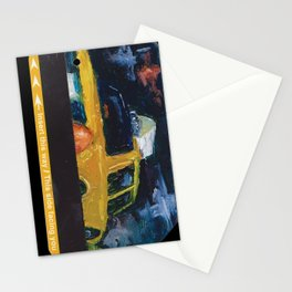 Subway Card NYC Taxi Painting Stationery Cards