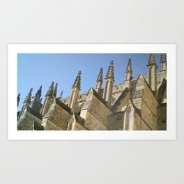 EXETER CATHEDRAL ROOF PINNACLES Art Print