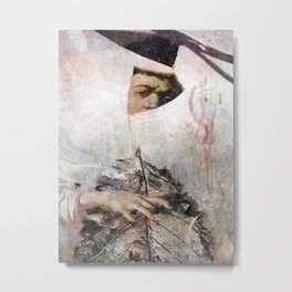 Mannerist with a leaf Metal Print