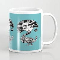birdy Mugs featuring Birdy by Rebexi