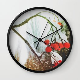 in winter Wall Clock