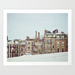 Boston Commons on a Winter Day Art Print