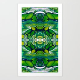 Bright Green Abstract Design Art Art Print