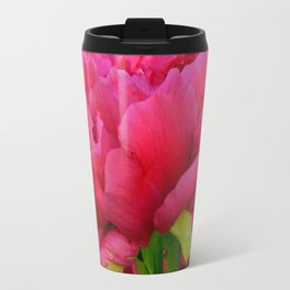 Dark Pink Tree Peony by Teresa Thompson Travel Mug