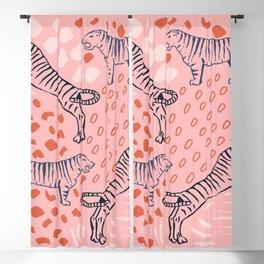 Tiger Print Blackout Curtain