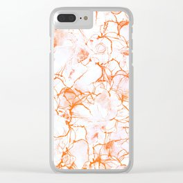 Orange Marbled Watercolor #decor #society6 Clear iPhone Case