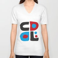 code V-neck T-shirts featuring CODE by Apolo Arauz