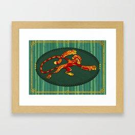 Year of the Monkey Framed Art Print
