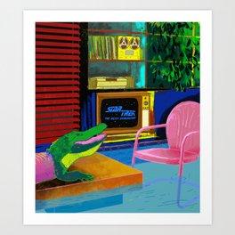 A Quarantined Alligator, March 2020 Art Print