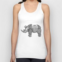rhino Tank Tops featuring Rhino by farah allegue