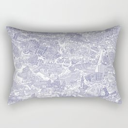 Illustrated map of Berlin-Mitte. Ink pen design Rectangular Pillow