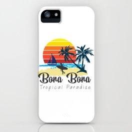 Bora Bora - Summer Vacation Maldives Travel Destination Gift iPhone Case