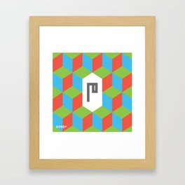 "Monogram Arabic Letter ""M"" Framed Art Print"