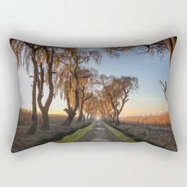 The path in the sunrise Rectangular Pillow