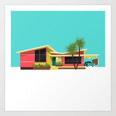 Mid Century House, Miami Art Print