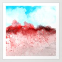 minerals Art Prints featuring Pink Minerals by Jessielee